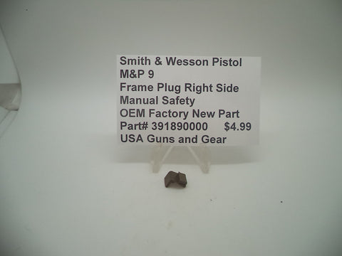 391890000 Smith & Wesson M&P 9 Frame Plug, Right Side Manual Safety New