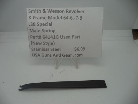 64141G Smith & Wesson K Frame Model 64-6,-7 &-8 Main Spring .38 Special