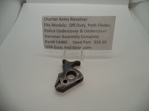 CA40C Charter Arms Revolver Fits Several Models Used Complete Hammer Assembly