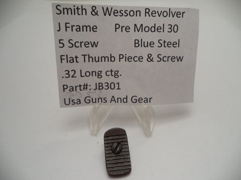 JB301E Smith & Wesson J Frame Pre Model 30 Thumbpiece & Screw Used .38 Special