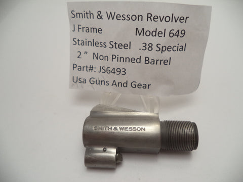"JS6493 Smith & Wesson J Frame Model 649 2"" Barrel SS Used .38 Special"