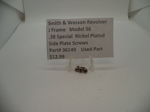 36149 Smith & Wesson J Frame Model 36 Used Sideplate Screws .38 Special