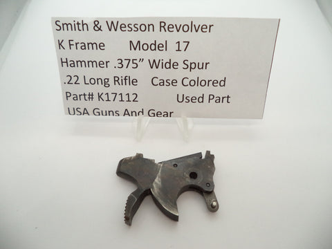 "K17112 Smith & Wesson K Frame Model 17 Revolver Hammer.375"" Used Part .22 LR"