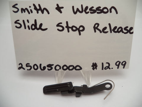 250650000 Smith & Wesson Slide Stop Release Pistol Part