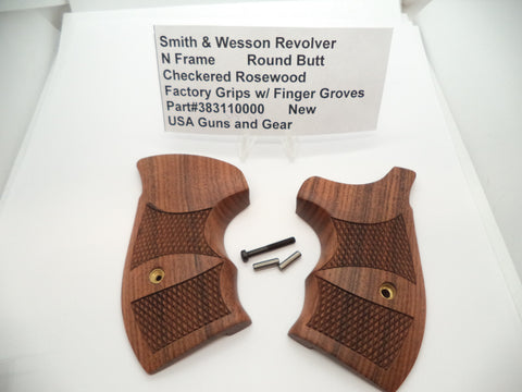 383110000 Smith & Wesson N Frame Pistol Grips w/ Hardware Round Butt Rosewood