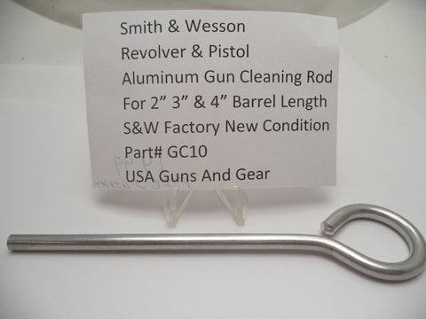 GC10 Smith & Wesson Revolver & Pistol Aluminum Gun Cleaning Rod New