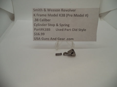 K38B Smith & Wesson K Frame Model K38 Used Cylinder Stop & Spring .38 Caliber