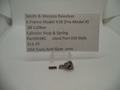 K38C Smith & Wesson K Frame Model K38 Used Cylinder Stop & Spring .38 Caliber