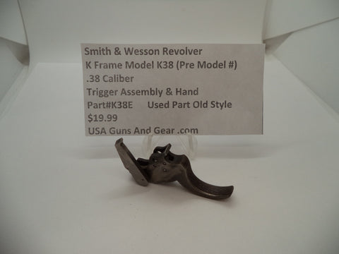 K38E Smith & Wesson K Frame Model K38 Used Trigger Assembly .38 Caliber