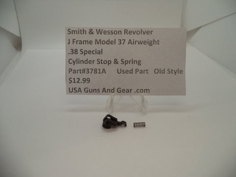 3781A Smith & Wesson J Frame Model 37 Airweight Cylinder Stop & Spring .38 Special