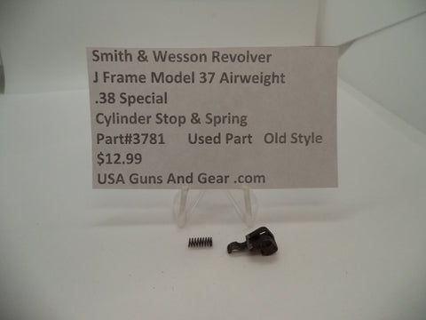3781 Smith & Wesson J Frame Model 37 Airweight Cylinder Stop & Spring .38 Special