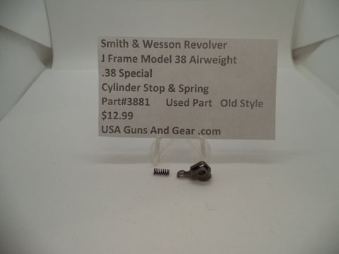 3881 Smith & Wesson J Frame Model 38 Airweight Cylinder Stop & Spring