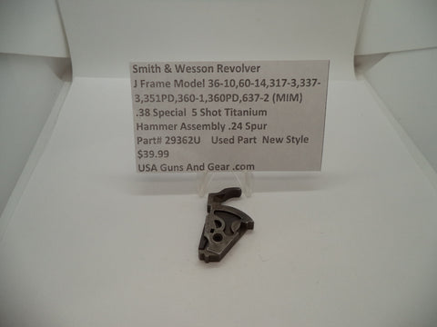 29362U Smith & Wesson J  Frame Multi Model Revolver MIM Hammer Assembly