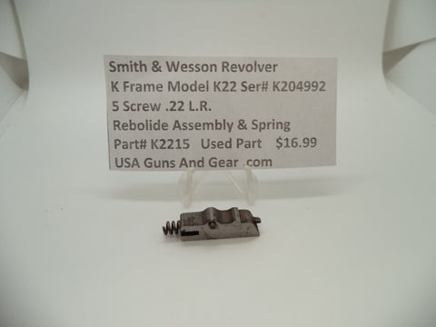 K2215 Smith & Wesson K Frame Model K22 Rebound Slide & Spring .22 L.R