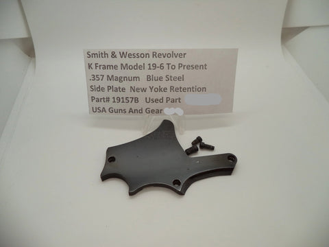 19157B Smith & Wesson K Frame Model 19-6 Used Side Plate .357 Magnum