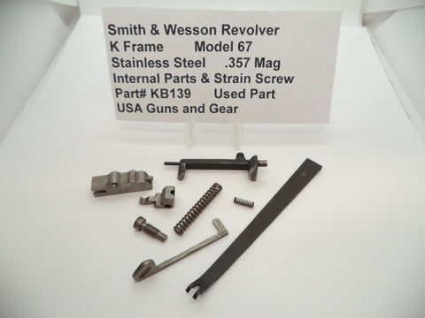 KB139 Smith & Wesson K Frame Model 67 Internal Parts & Strain Screw .357 Magnum