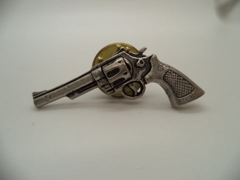 Silver Revolver Tie Tac / Pin from T.S Brown