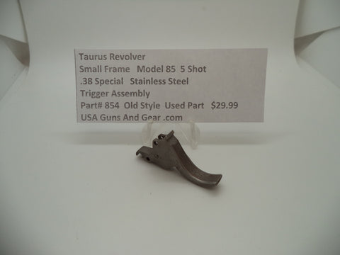 854 Taurus Revolver Model 85 Trigger Assembly Stainless Steel .38 Special
