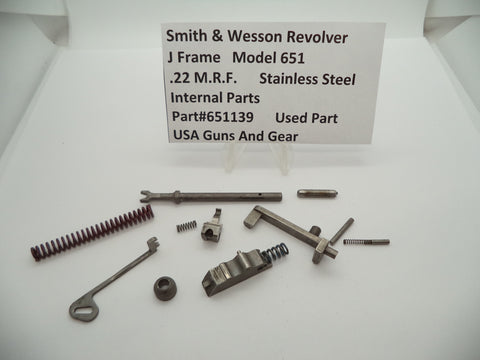 651139 Smith & Wesson J Frame Model 651 Revolver Internal Parts SS .22 M.R.F.