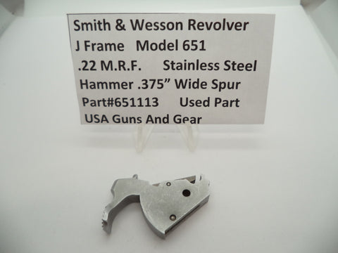 "651113 Smith & Wesson J Frame Model 651 Revolver Hammer .375"" S.S. .22 M.R.F."