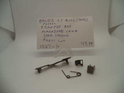 Bauer 25 Auto Pistol Transfer Bar Magazine Catch Sear Spring #1027-6