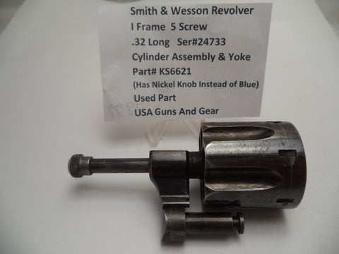 KS6621 Smith & Wesson Revolver I Frame Cylinder Assembly Used .32 Long