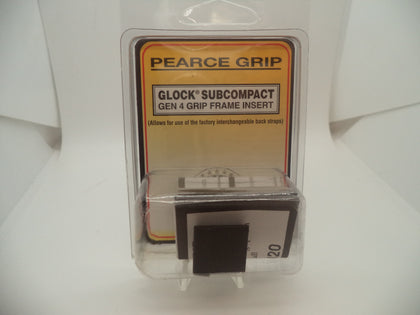 Pearce Grip Frame Insert For Multiple Glock Subcompact Models #PG-G4SC
