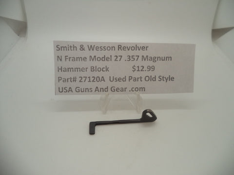 27120A Smith & Wesson N Frame Model 27 Used Hammer Block .357 Magnum