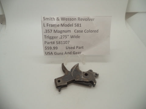 "581107 Smith & Wesson L Frame Model 581 Hammer .275"" Wide Spur .357 Magnum"
