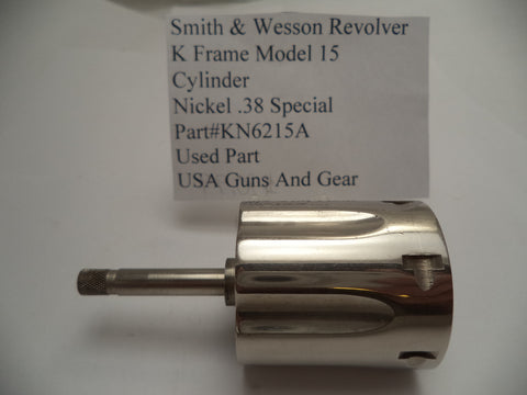 KN6215A Smith & Wesson K Frame Model 15 Cylinder Nickel Used .38 Special