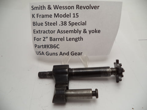 KB6C Smith and Wesson K Frame Model 15 Extractor & Yoke Assy, Used .38 Special