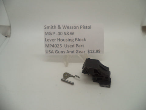 MP4025 Smith & Wesson Pistol M&P Lever Housing Block Used Part .40 S&W