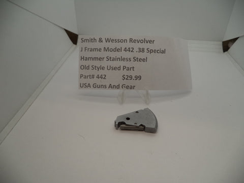 442 Smith & Wesson J Frame Model 442 Used .38 Special Hammer Stainless Steel