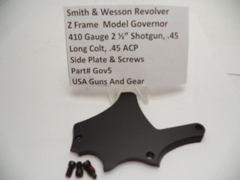 GOV5 Smith & Wesson Z Frame Governor Model Side Plate & Screws Fits Many Caliber