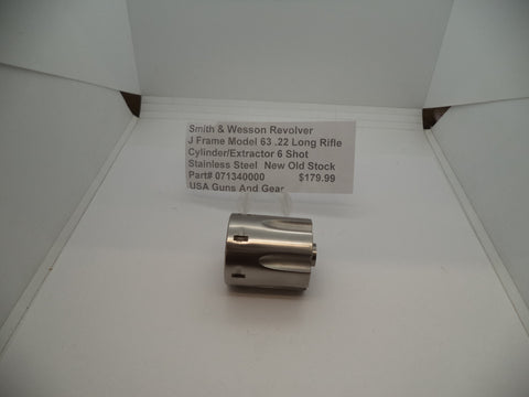 071340000 S&W Revolver J Frame Model 63 Cylinder/Extractor .22 Long Rifle