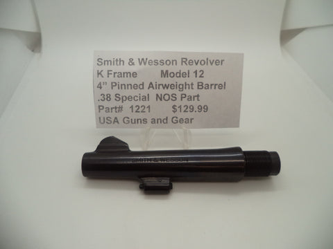 "1221 Smith and Wesson K Frame Model 12 Pinned 4"" Airweight Barrel .38 Special"