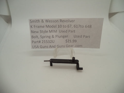21532U Smith & Wesson K Frame Model 10 to 67, 617 to 648 Bolt Spring & Plunger