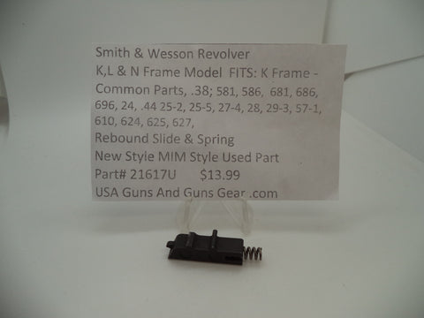 21617U Smith & Wesson Used K, L ,N Frame Rebound Slide & Spring