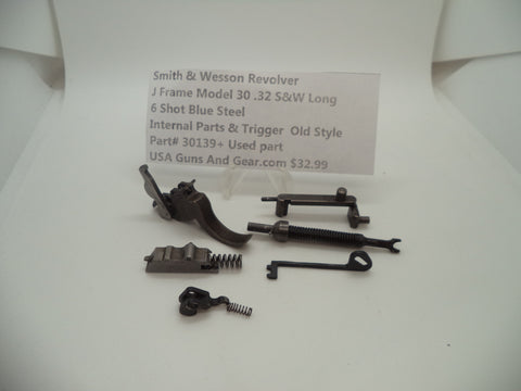 30139+ Smith and Wesson J Frame Model 30 Internal Parts and Trigger Used 32 Long