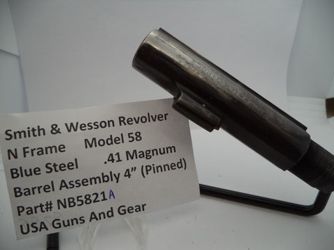 "NB5821A Smith & Wesson N Frame Model 58 4"" Barrel Used Part .41 Magnum"