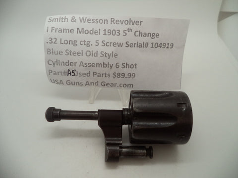 A5 Smith & Wesson I Frame Model 1903 5th Change Used Cylinder Assembly .32 Long
