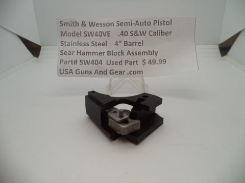 SW404 Smith & Wesson Model SW40VE Sear Hammer Block Assembly Used Part