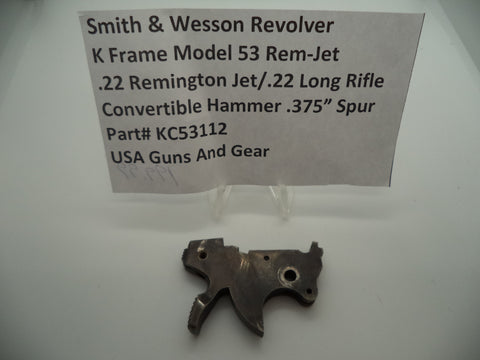 KC53112 Smith & Wesson K Frame used Model 53 Rem-Jet .22/.22 LR  Convertible Ham