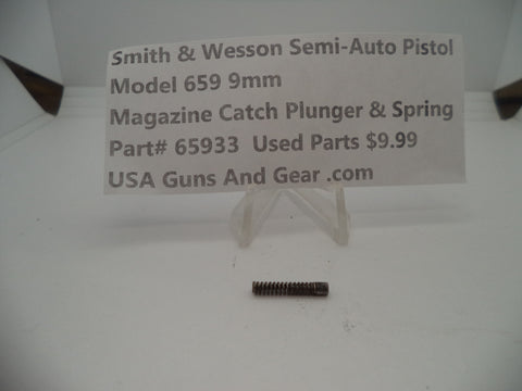 65933A Smith & Wesson Model 659 Magazine Catch & Plunger Spring Used Part 9MM