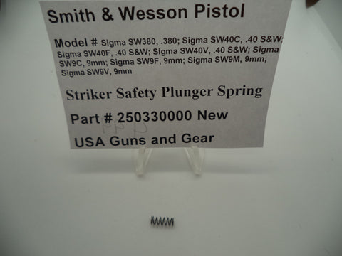 250330000 Smith & Wesson New Striker Safety Plunger Pistol Part