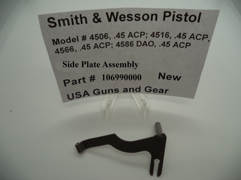 106990000 Smith And Wesson Pistol Side Plate Assembly Multi-Model New Part