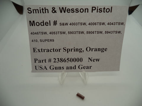 238650000 Smith & Wesson Pistol New Orange Extractor Spring Part