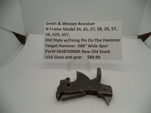 043870000A S&W Revolver N Frame Model 24, 25, 27, 28, 29, 57, 58, 629, 657 Target Hammer w/Firing Pin On The Hammer