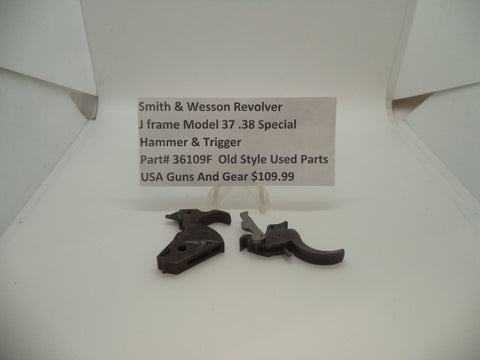 36109F Smith & Wesson J Frame Model 37 .38 Spl  Trigger Used Parts Old Style