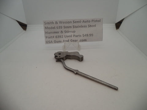 6392 Smith & Wesson Model 639 9 MM Hammer & Stirrup Stainless Steel Used Parts